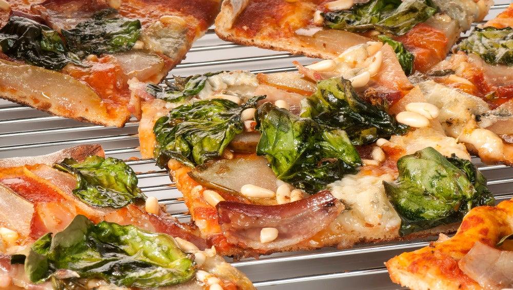Pizza de pera conferencia del Bierzo