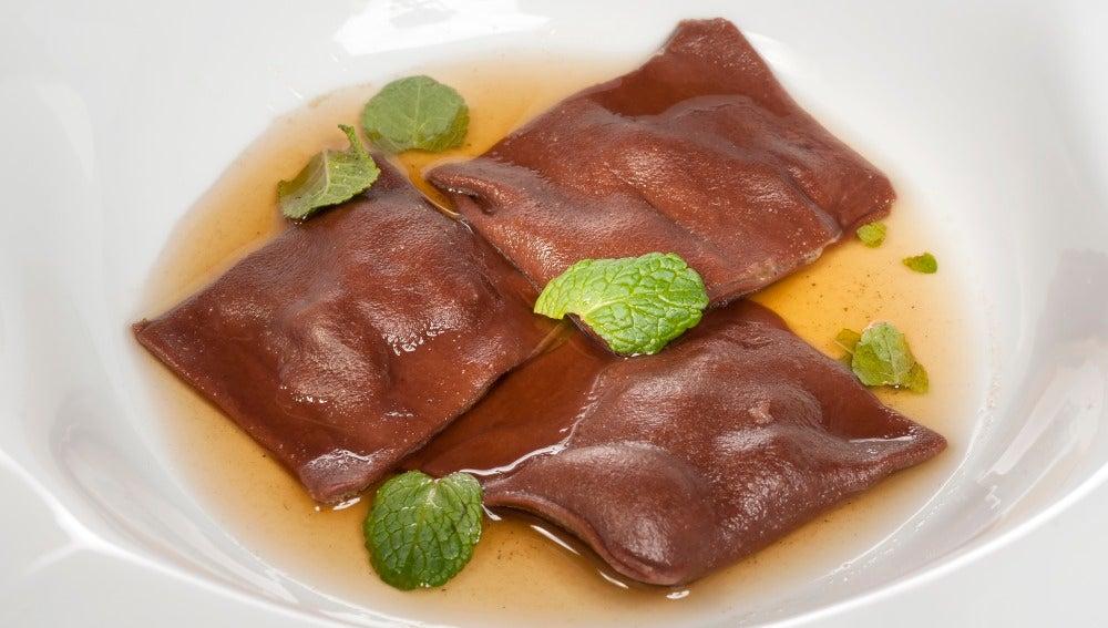 Raviolis dulces y especiados
