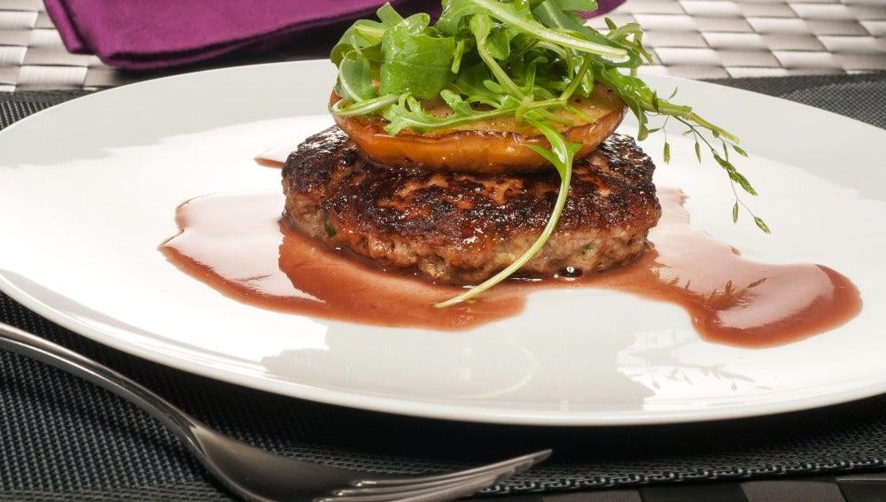 Hamburguesa de foie al plato