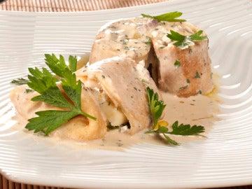 Crepes de sardina y queso