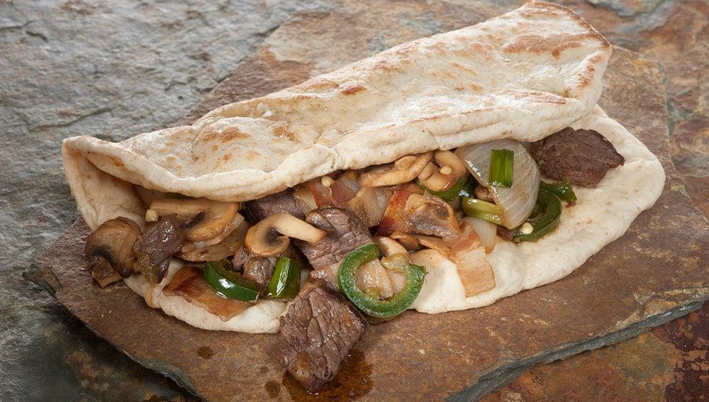 Tacos de pan Árabe