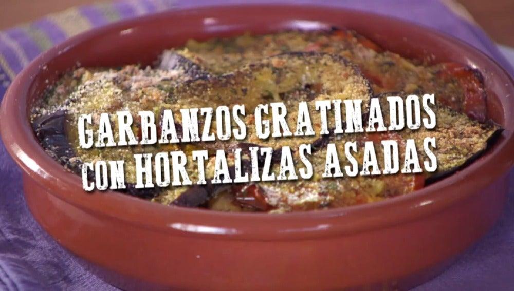 Frame 0.0 de: Garbanzos gratinados con hortalizas asadas