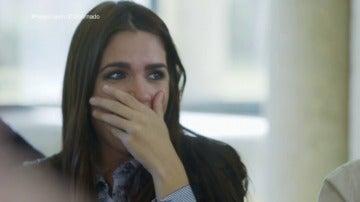 Elena Furiase se emociona durante el reencuentro