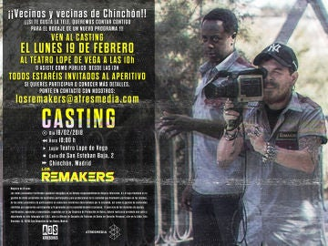 Ven al casting de 'Los Remakers' en Chinchón (Madrid)