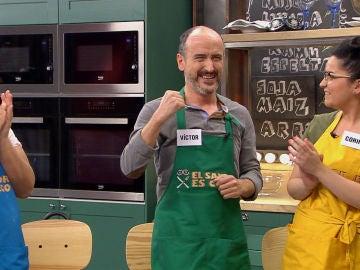 Víctor se hace con la victoria en 'El sabor es ciego' con su Brazo de gitano de café