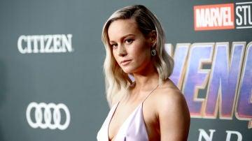 Brie Larson, Capitana Marvel, en la premiere de 'Vengadores: Endgame'