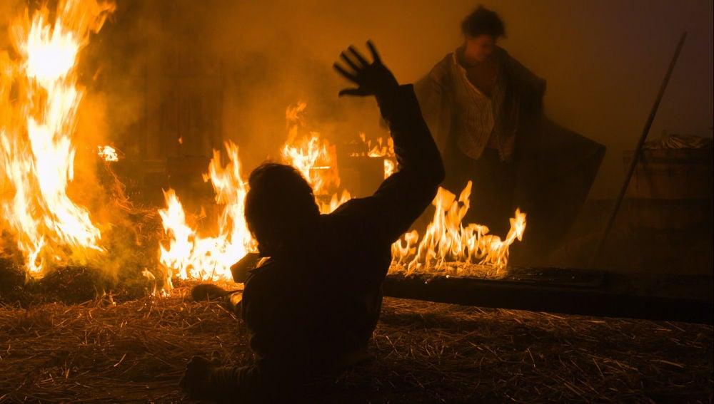 Incendio en casa de Arthur