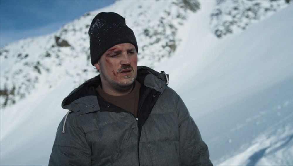 Abandonado en la nieve