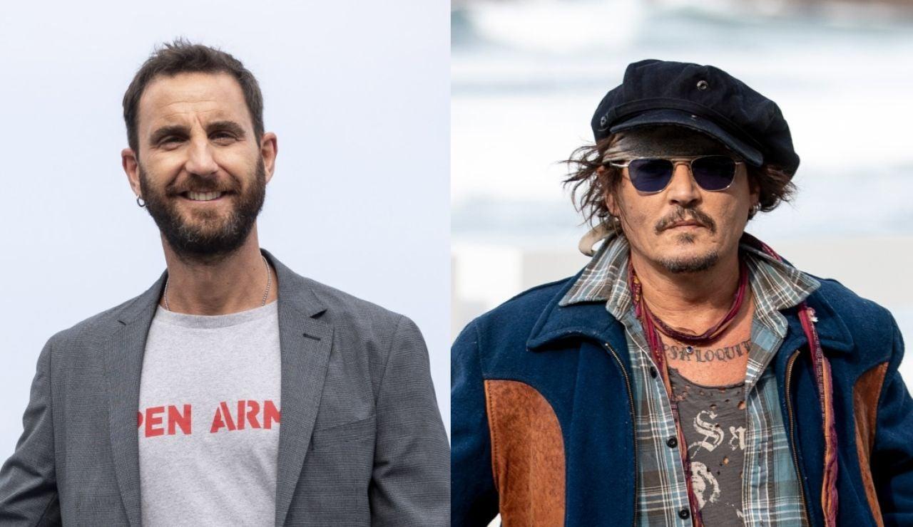 Dani Rovira y Johnny Depp
