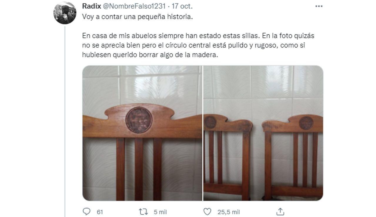 La increíble historia detrás de los círculos en las sillas de sus abuelos que está conmocionando a Twitter