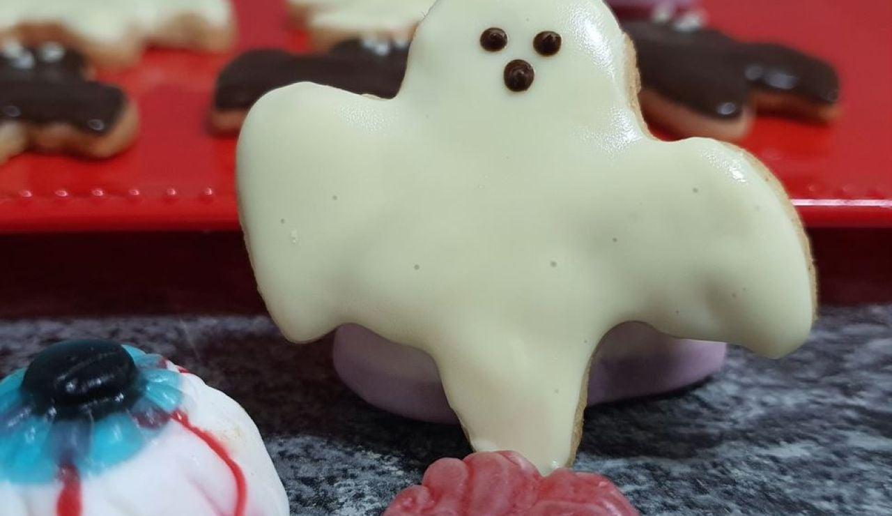 Galletas en forma de fantasma