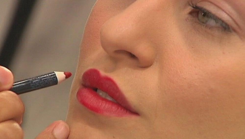 Maquillaje: Labios rojos