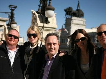 Mario, Gwyneth, Mario y Claudia en Madrid