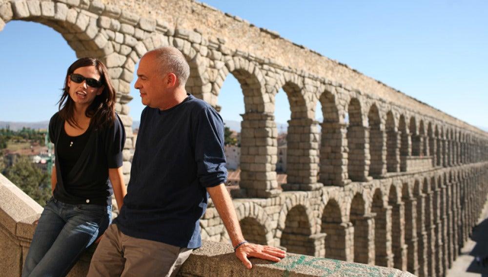 Claudia y Mark en Segovia