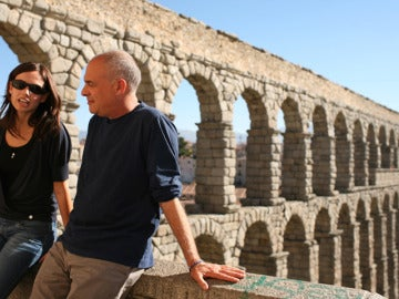 Claudia y Mark en Segovia