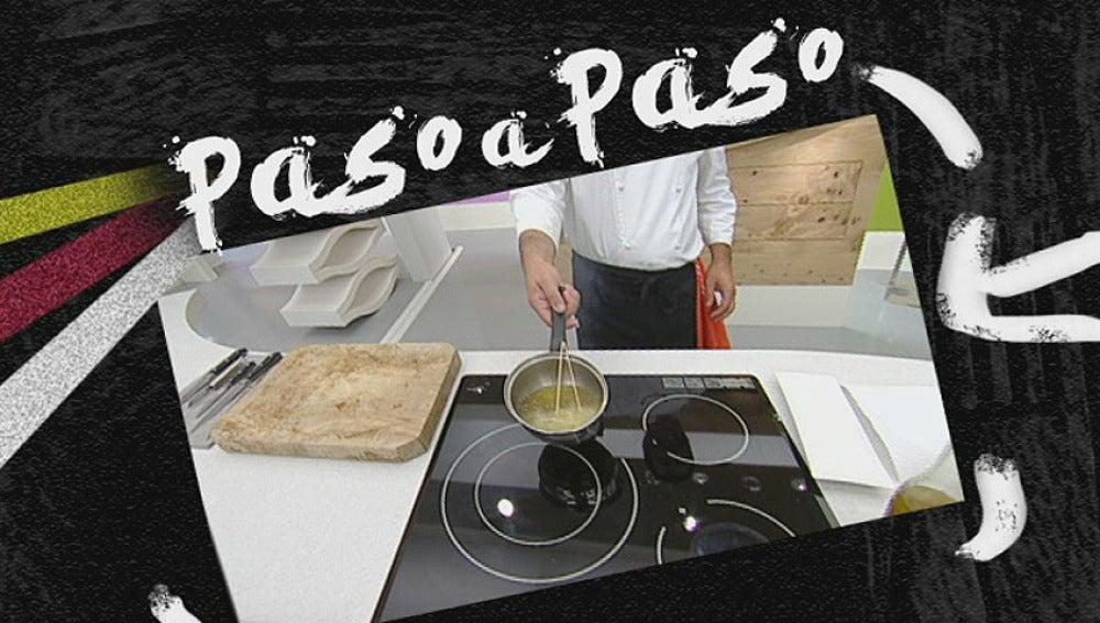 La receta paso a paso