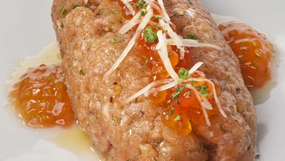 Kippe crudo de salmón