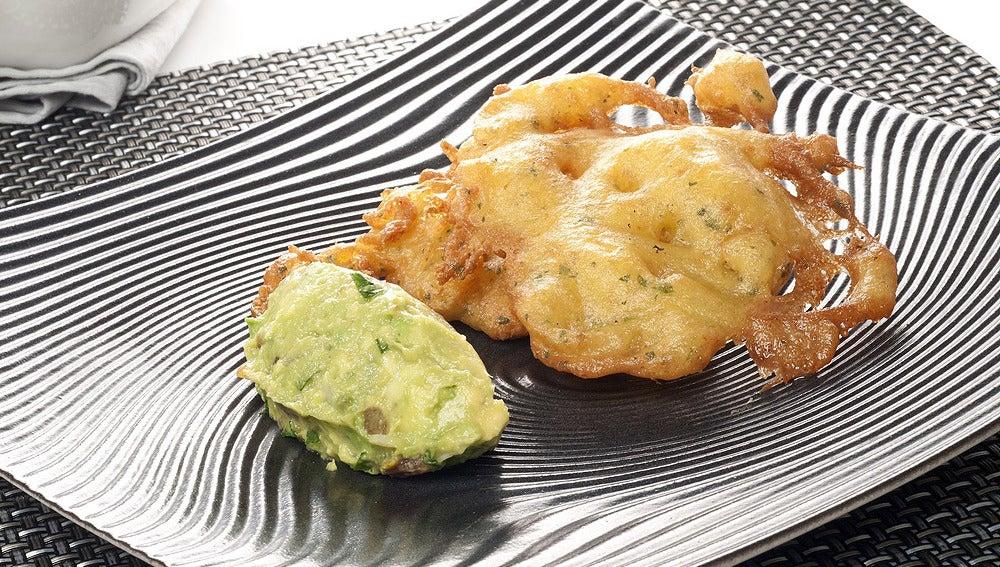 Tortillas 'pisha' con guacamole