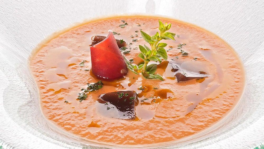 Sopa fría de berenjenas y yogur
