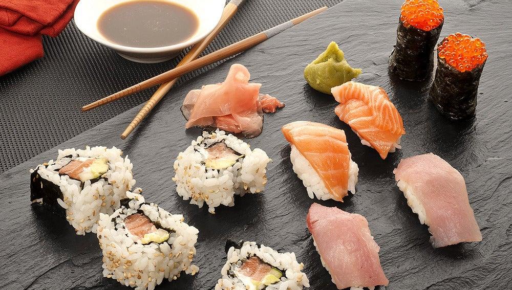Arroz para sushi y sushi