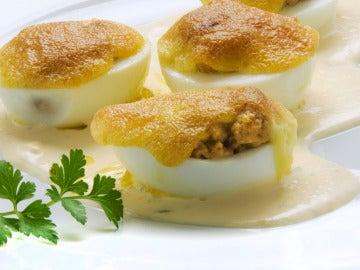 huevos con champiñones