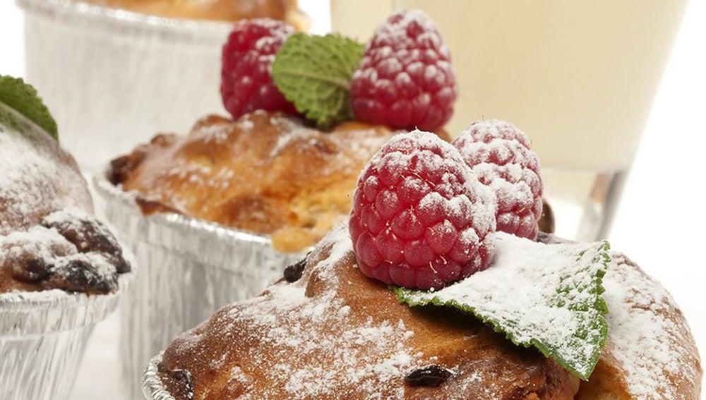 Muffins de macadamia y chocolate blanco