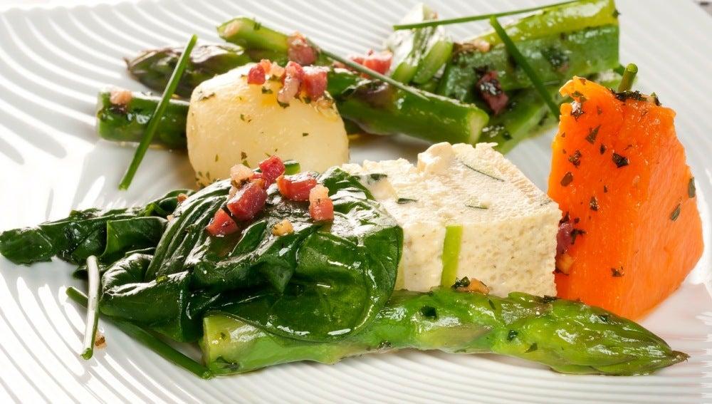 Pastel de verduras y verduras
