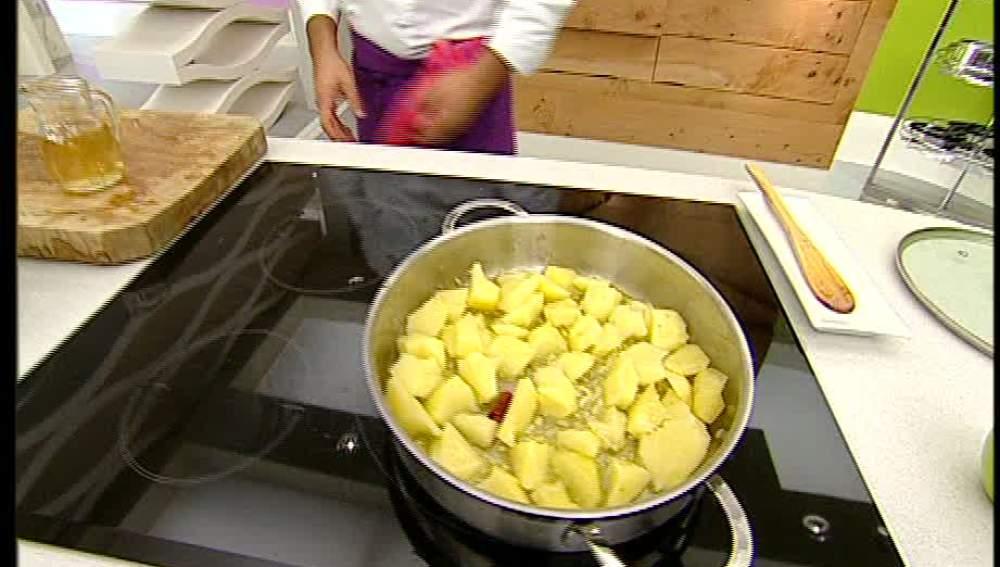Patatas con cabeza de rape