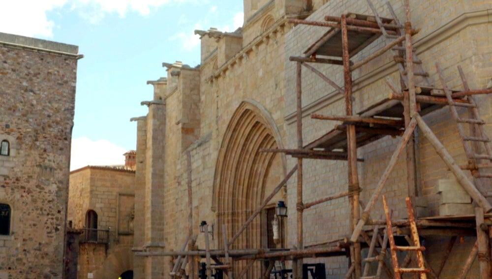 Así se recrea la Basílica de Santa Mª del Mar en Cáceres
