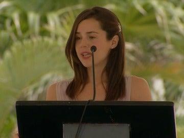 Frame 30.776526 de: Paulina homenaje a su marido inaugurando el hotel