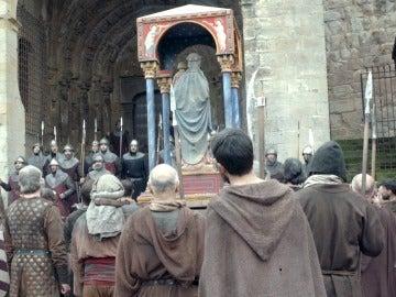 'La Catedral del Mar' invade Sos del Rey Católico y duplica sus habitantes