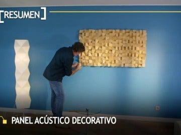Frame 60.495714 de: Un gran mural de madera transforma un cuarto de estar