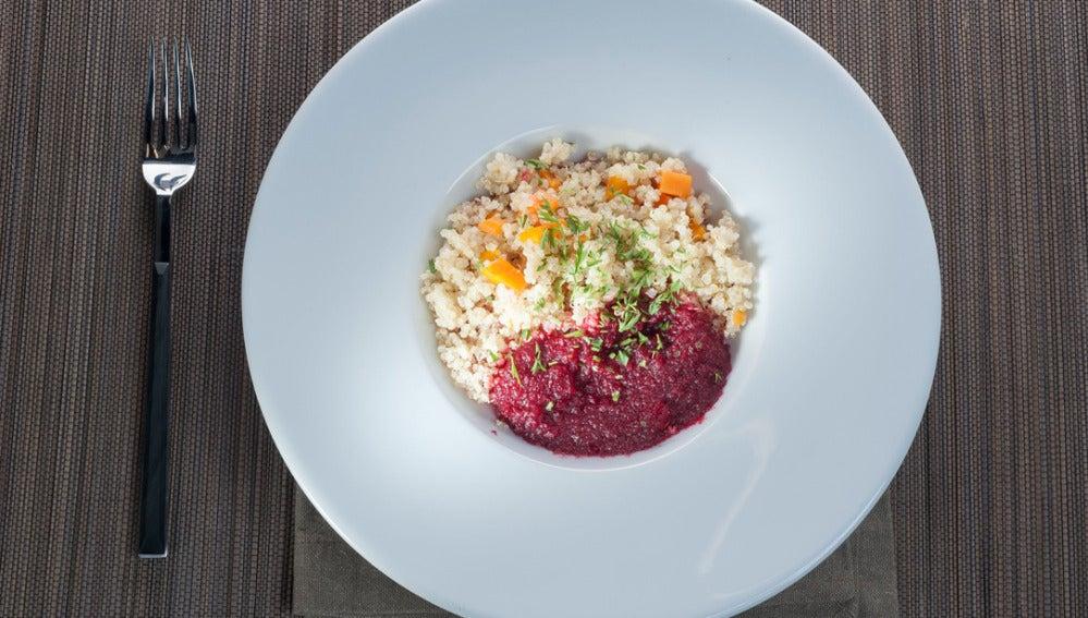 Quinoa con puré de verduras
