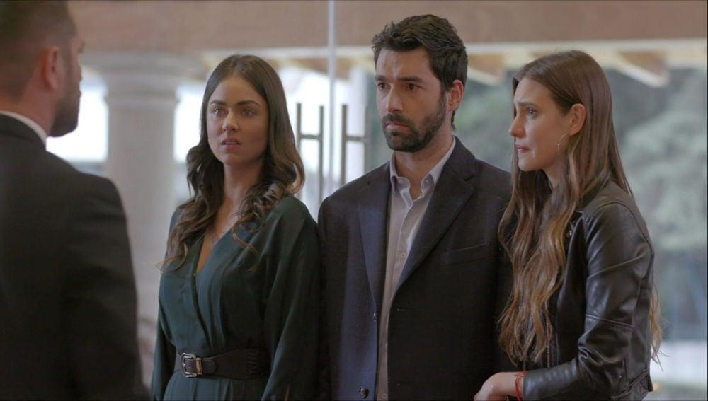 Eva, Guille y Valentina Carvajal