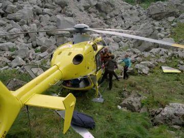 El equipo de rescate de los Alpes en peligro