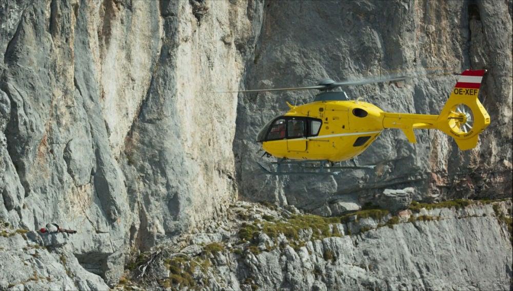 Peligroso rescate en los Alpes